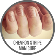 Nude Chevron Stripe Nail Plates Manicure Fingernails Tutorial