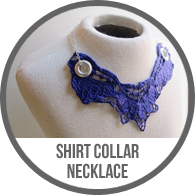 Handmade Vintage Lace Shirt Collar Necklace with Grommets Tutorial