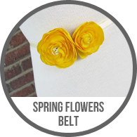 Convertible Ribbon Spring Flower Belt Headband Tutorial
