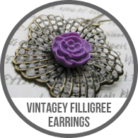 Handmade Vintage Inspired Brass Filigree Flower Cameo Dangle Earrings Tutorial