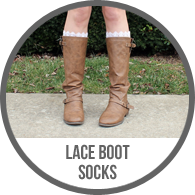Lace Boot Knee High Socks Tutorial for Winter