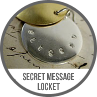 Handmade Hidden Secret Message Stamped Metal Silver and Brass Locket Pendant Necklace Tutorial