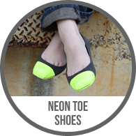 Patent Neon Painted Toe Shoes Toes Tutorial
