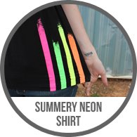 Easy Hand Painted Neon Striped Shirt Tutorial